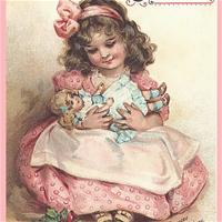 Рождественские открытки с куклами