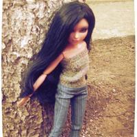 Гуляли с Мариткой в парке)