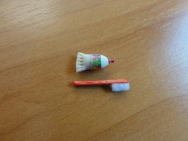 Как сделать для кукол мыло зубную щётку и пасту