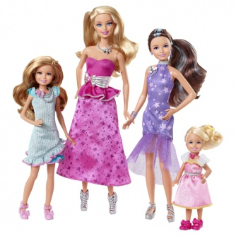 Куклы Mattel сестры Barbie в сказке о пони в нарядных платьях