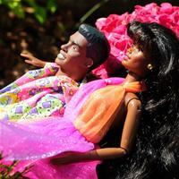 Ванесса и Джордж в цветах