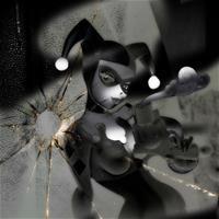 Harley Quinn (Black&White) by Bruce Timm